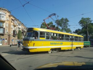 Трамвай №11 в Николаеве (1122)
